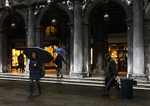 Venice,Italy,Sant Marco, albert punti, rain, group photography